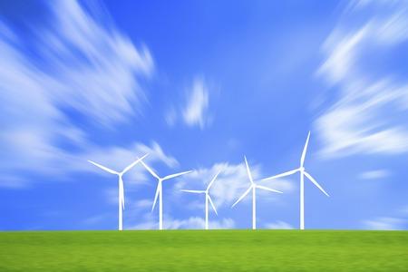 grasslands: Wind power generation