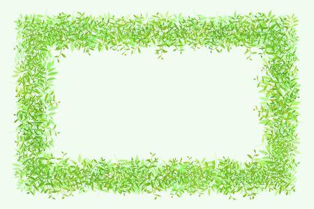 enclose: Green frame Stock Photo