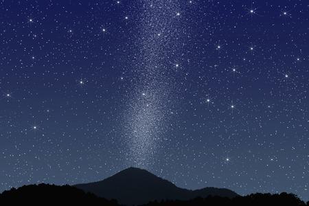 Night sky Stockfoto