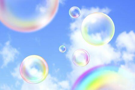 石鹸の泡 写真素材