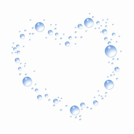 circumstance: Water droplets of Heart