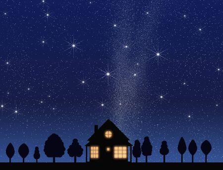night view: Night of house