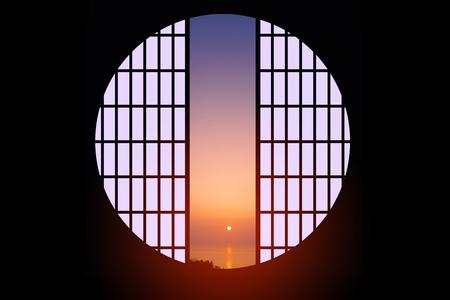 round: Round window Stock Photo