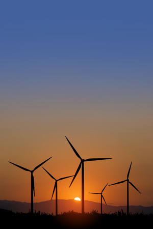 power generation: Windmill of the wind power generation Stock Photo