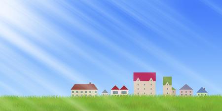 fine weather: Quarters and grassland