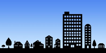 habitation: Cityscape silhouette