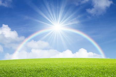 Blue skies and rainbows and sunshine