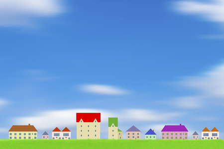 residency: Cityscape and blue sky