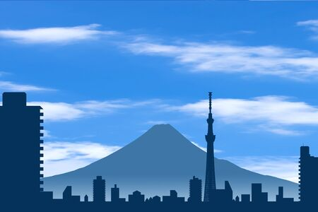 on the lookout: Sky tree and Mt Fuji