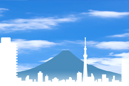 lookout: Sky tree and Mt Fuji