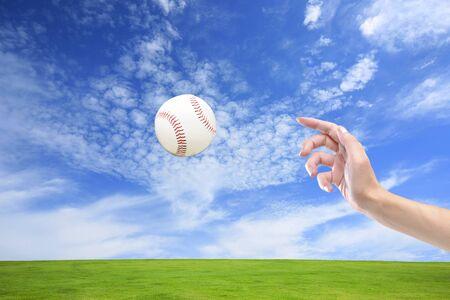 pitching: Pitching Stock Photo