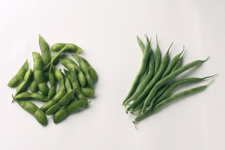 ejotes: Frijoles de soya y frijoles verdes