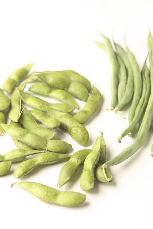 judia verde: Frijoles de soya y frijoles verdes