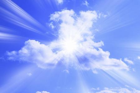 cielo azul: Azul cielo Foto de archivo