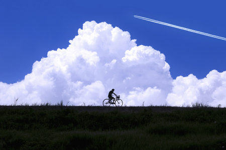 Summer sky and bicycle