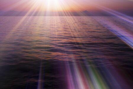 Dawn of the Lake Biwa Stock Photo