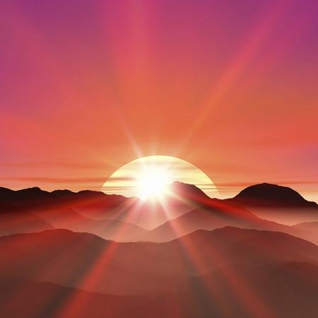 january sunrise: Sunrise Foto de archivo