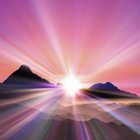 january sunrise: Salida del sol