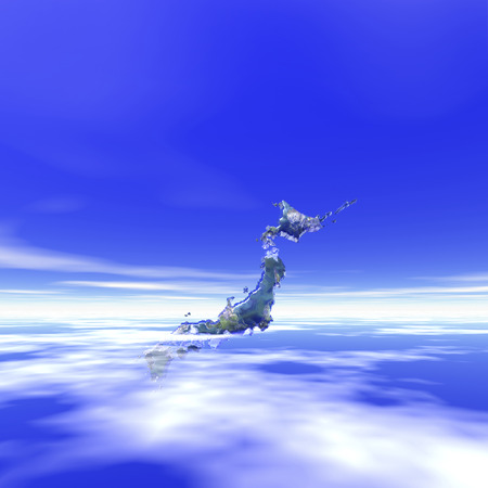 pleasent: Japan Islands and the blue sky Stock Photo