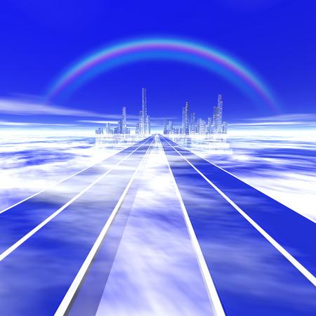 straight path: Image of a future