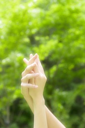 overlaying: overlaying hand