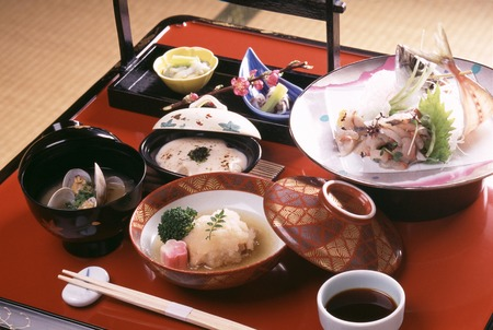 japanese food: kaiseki Setouchi Foto de archivo