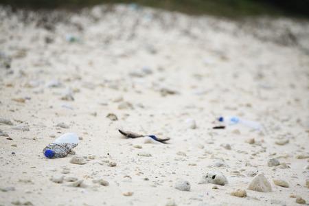 washed: Coast washed ashore trash of coral