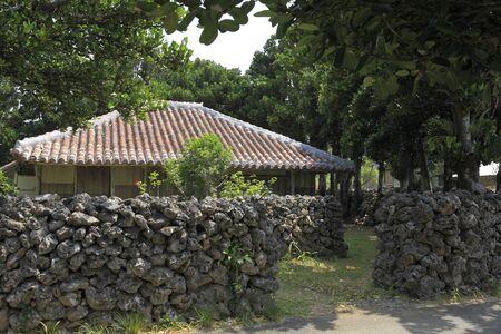 okinawa: Okinawa houses Stock Photo