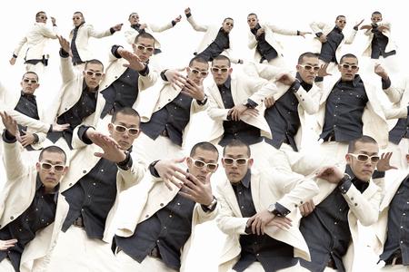 computer dancing: The dancing men Stock Photo