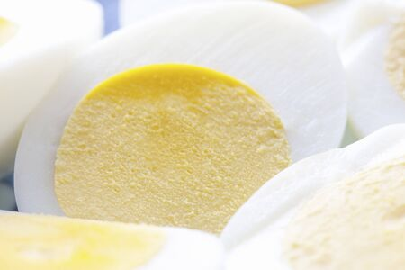 boiled eggs: Hard boiled eggs Stock Photo
