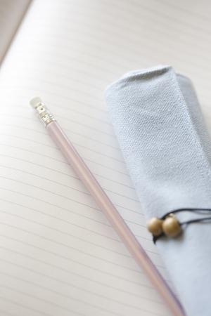 pencil case: Pencil case and pencil Stock Photo