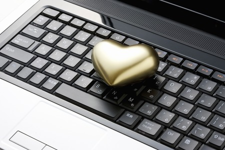 gold colour: Heart of gold Stock Photo