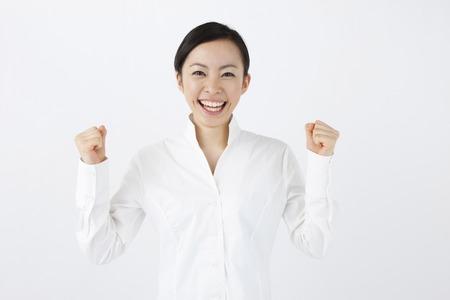 Glimlachende vrouw Stockfoto