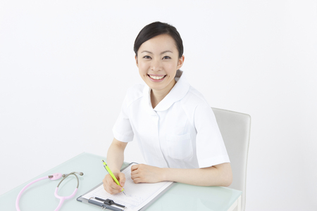 check ups: Nurses medical record writing