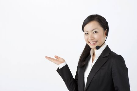 asian business people: Operator Stock Photo