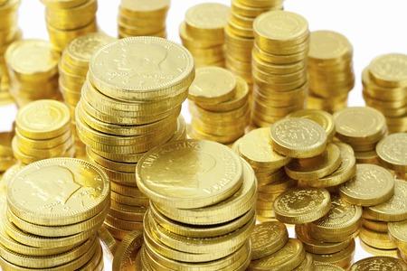 Gouden munten Stockfoto