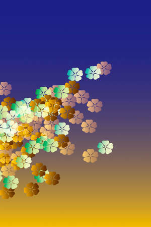 mixed family: Flower pattern Stock Photo