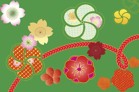 webbing: Hana A pattern and webbing Stock Photo