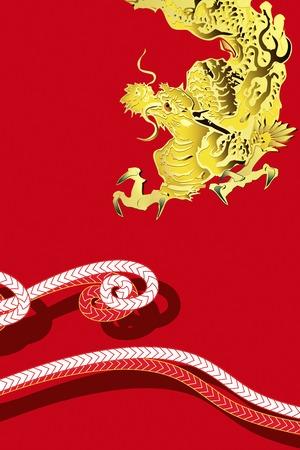 back belt: Dragon