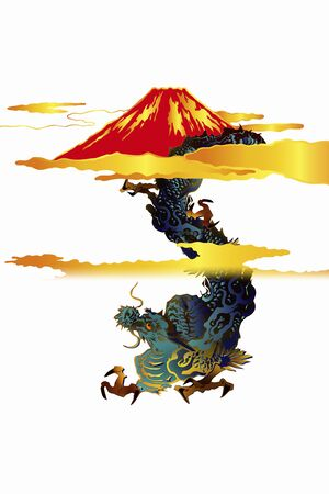 supposition: Dragon and Mt. Fuji