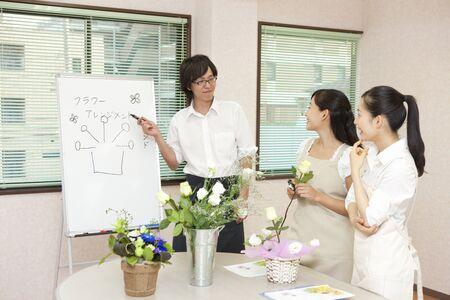 Flower arrangements classroom 版權商用圖片