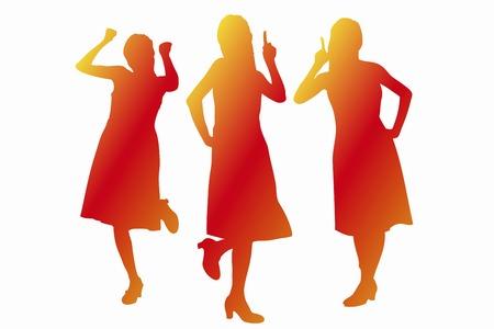guts: Woman silhouette
