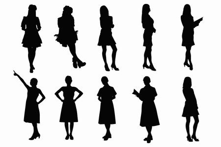 asian business: OL, nurse silhouette