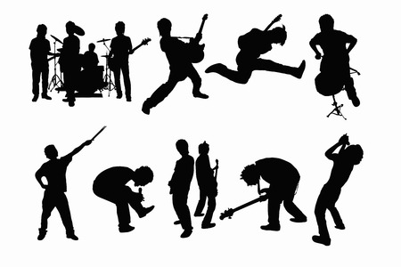 band silhouette: Band silhouette