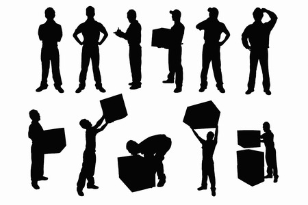 corrugated cardboard: Shipping silhouette Stock Photo