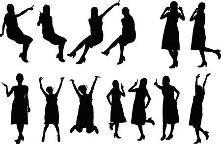 hurray: Woman silhouette