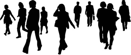 passerby: Walking person silhouette