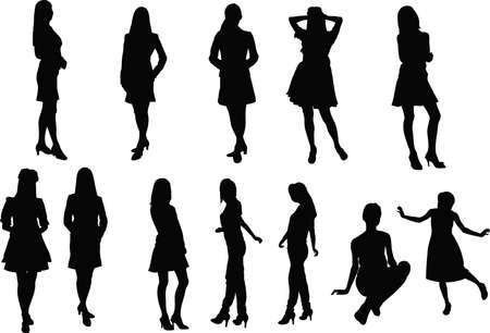 silhouette of woman: Woman silhouette
