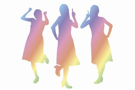 succes: Woman silhouette