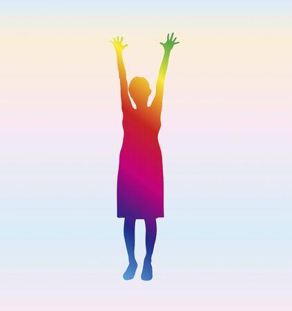 long live: Woman silhouette